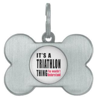 Diseños de la cosa del Triathlon Placas Mascota