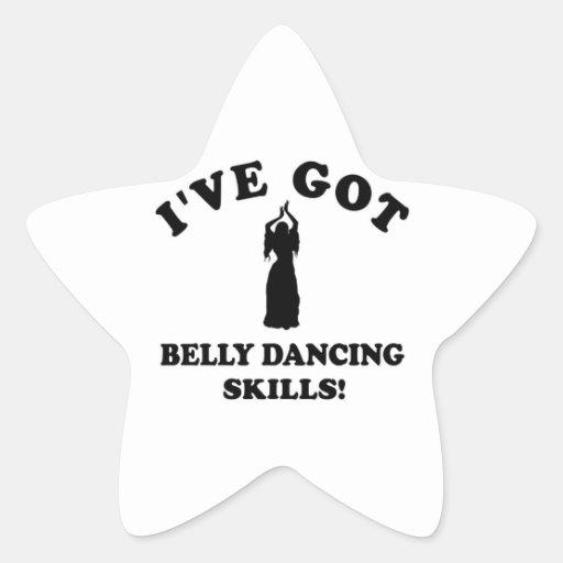 Diseños de la danza de Belly Pegatinas Forma De Estrella Personalizadas