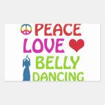 Diseños de la danza de Belly Rectangular Altavoces