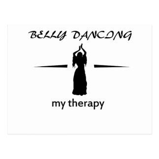 Diseños de la danza de Belly Tarjeta Postal