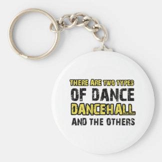 Diseños de la danza de Dancehall Llavero Redondo Tipo Pin
