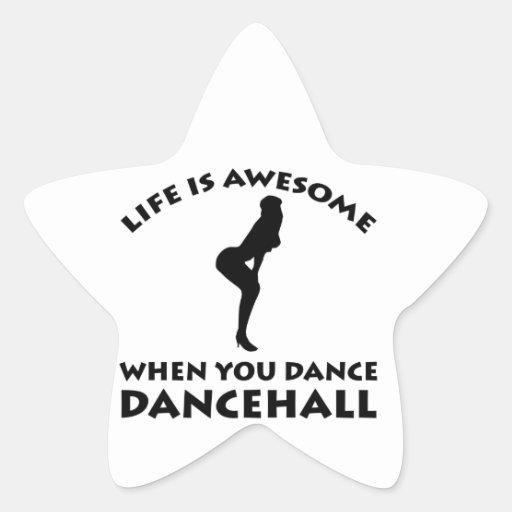 Diseños de la danza de Dancehall Calcomania Cuadrada Personalizada