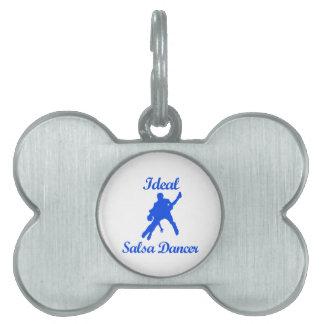 Diseños de la DANZA de la SALSA Placas De Nombre De Mascota