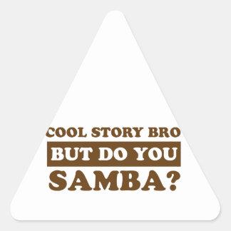 diseños de la danza de la samba pegatina triangular