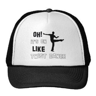 Diseños de la danza de la torsión gorras