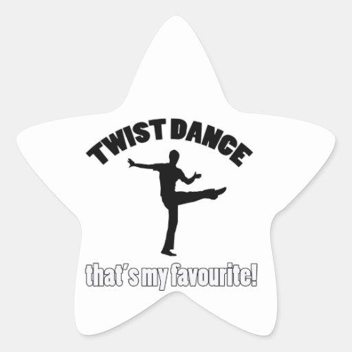 Diseños de la danza de la torsión calcomanías forma de estrellaes personalizadas