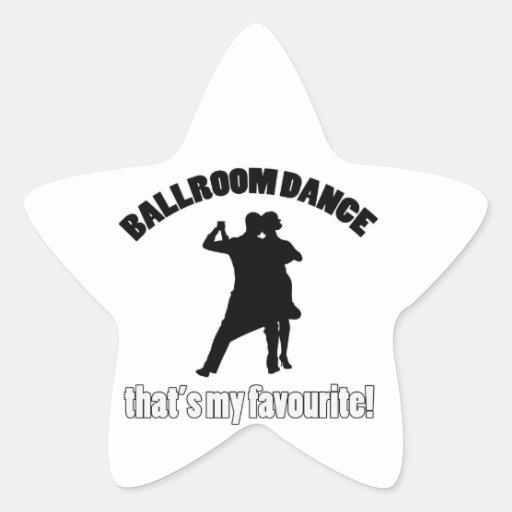 diseños de la danza de salón de baile calcomanías forma de estrella