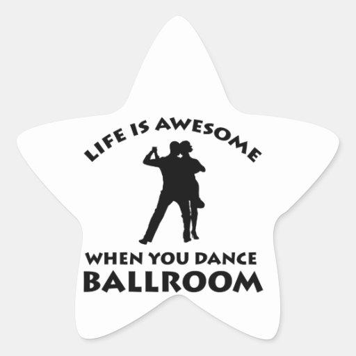 Diseños de la danza de salón de baile calcomania forma de estrella