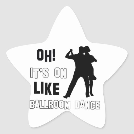 Diseños de la danza de salón de baile pegatina forma de estrella