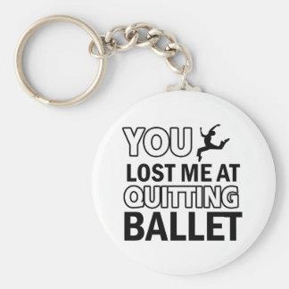 Diseños de la danza del ballet llavero redondo tipo pin
