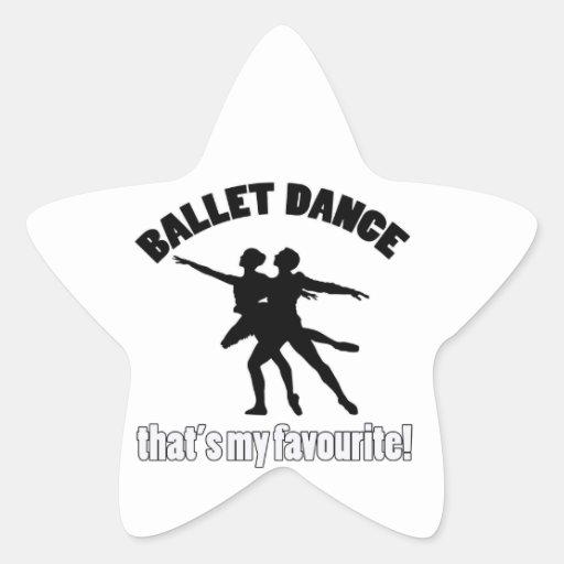 Diseños de la danza del ballet calcomania cuadrada personalizada