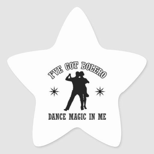 diseños de la danza del bolero calcomanías forma de estrellaes personalizadas