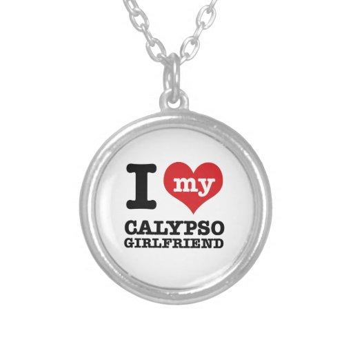 Diseños de la danza del Calypso Pendiente Personalizado