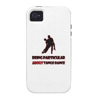 DISEÑOS DE LA DANZA DEL TANGO iPhone 4 FUNDA