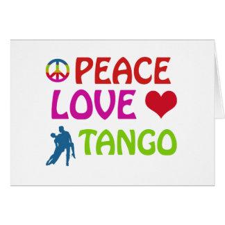 Diseños de la danza del tango tarjeta de felicitación