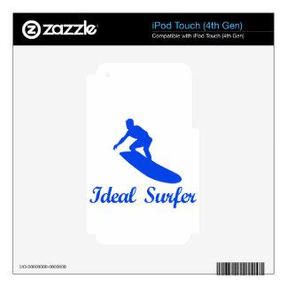 Diseños de la DANZA QUE PRACTICAN SURF iPod Touch 4G Skins