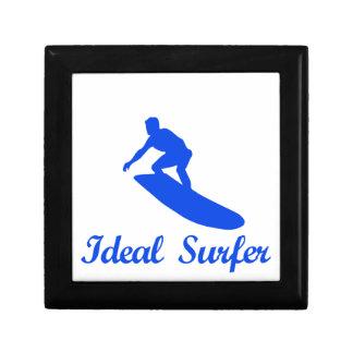 Diseños de la DANZA QUE PRACTICAN SURF Joyero Cuadrado Pequeño