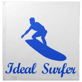 Diseños de la DANZA QUE PRACTICAN SURF Servilletas Imprimidas