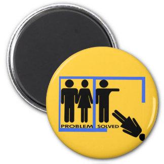 Diseños de la desintegración y del divorcio imán redondo 5 cm