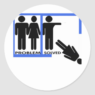 Diseños de la desintegración y del divorcio pegatina redonda