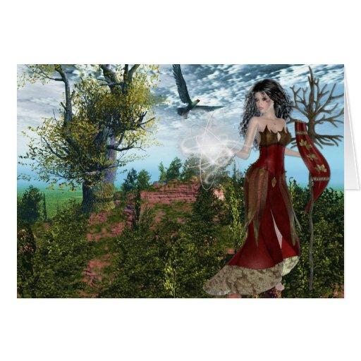 Diseños de la fantasía de la madre naturaleza tarjetón