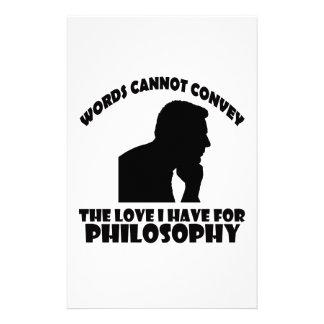 Diseños de la filosofía papeleria