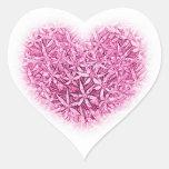 Diseños de la flor del corazón pegatina de corazon personalizadas