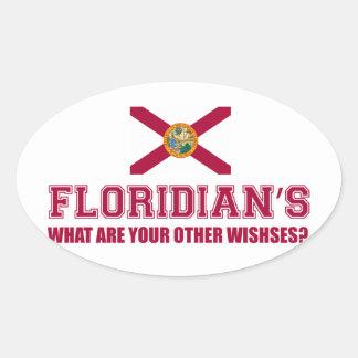 diseños de la Florida Pegatina Ovalada
