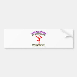 Diseños de la gimnasia pegatina para auto