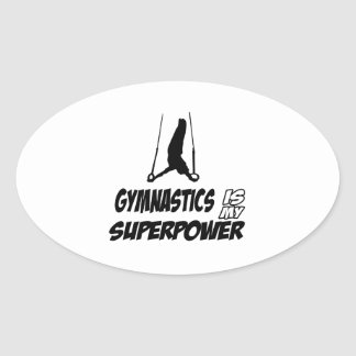 Diseños de la gimnasia pegatina ovalada