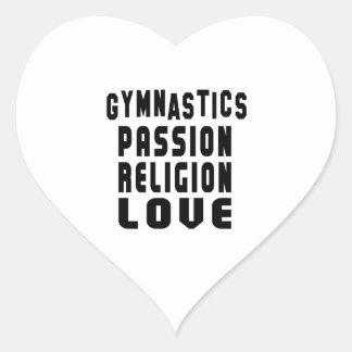 Diseños de la gimnasia pegatina en forma de corazón