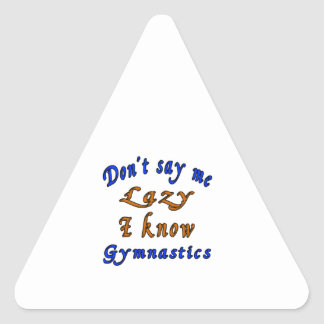 Diseños de la gimnasia pegatina triangular