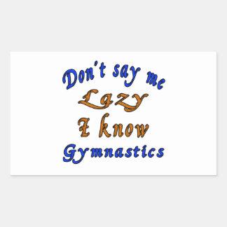 Diseños de la gimnasia pegatina rectangular
