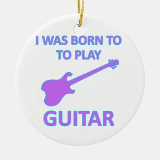 Diseños de la guitarra eléctrica ornamento para reyes magos