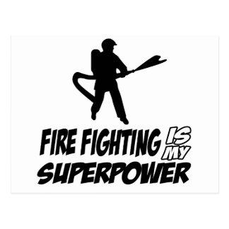 Diseños de la lucha contra el fuego postales