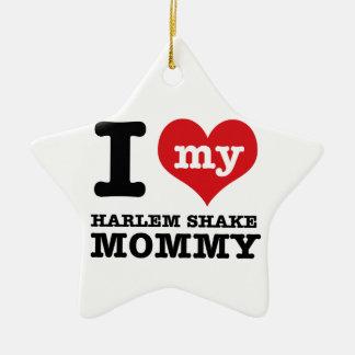 diseños de la mamá de la danza de la sacudida de adorno navideño de cerámica en forma de estrella