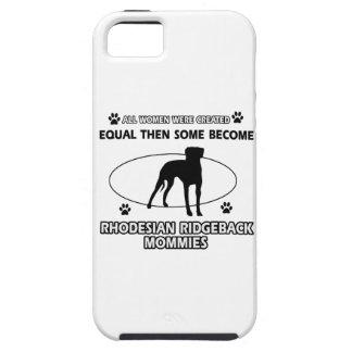 Diseños de la mamá de Rhodesian Ridgeback iPhone 5 Carcasa