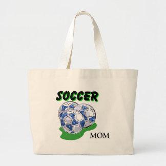 Diseños de la mamá del fútbol bolsa tela grande