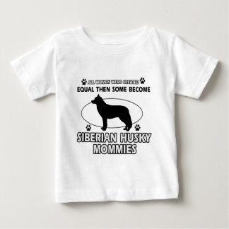 Diseños de la mamá del husky siberiano poleras