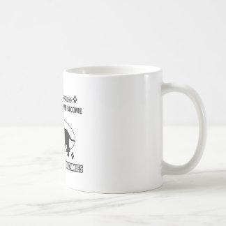 Diseños de la mamá del perro de afloramiento taza de café
