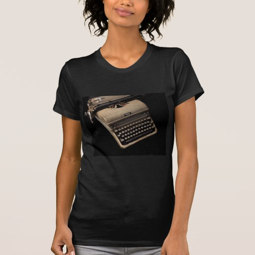 Diseños de la máquina de escribir del vintage playera