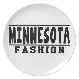 Diseños de la moda de Minnesota Plato Para Fiesta