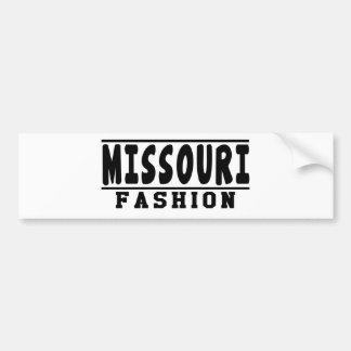 Diseños de la moda de Missouri Etiqueta De Parachoque