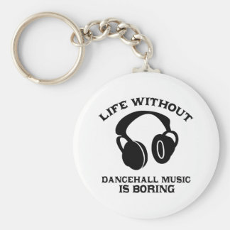 Diseños de la música de Dancehall Llavero Redondo Tipo Pin