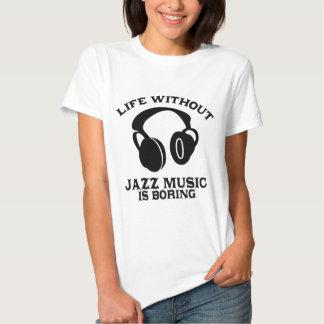 Diseños de la música de jazz playera
