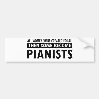 Diseños de la música de los pianistas pegatina para auto
