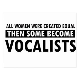 Diseños de la música de los vocalistas postales