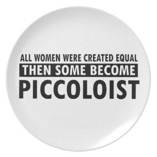 Diseños de la música de Piccoloists Plato Para Fiesta