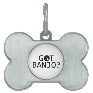 Diseños de la música del BANJO Placa De Nombre De Mascota