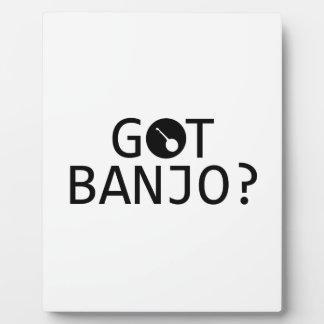 Diseños de la música del BANJO Placas De Madera